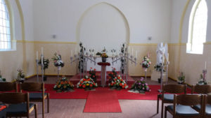 Innenansicht der Friedhofskapelle